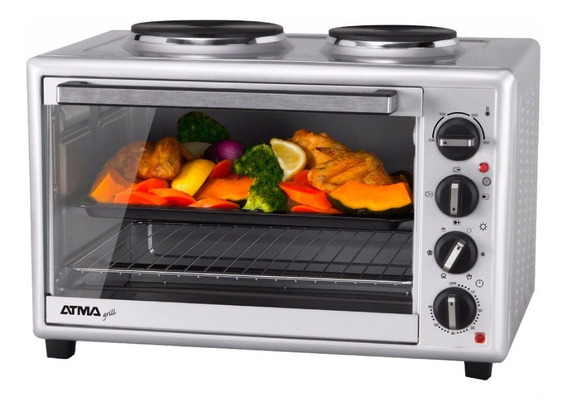 Horno Electrico Atma Hg-4010an 2anafes Grill 40lts 12c Rt