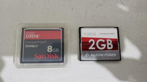 Cartão De Memória 8gb + 2gb Cf Compact Flash Sandisk Ultra