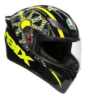 Casco Moto Agv K1 Integral Rossi Flavum 46