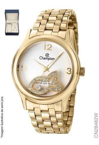 Relógio Da Champion Com Jóia Folheado A Ouro