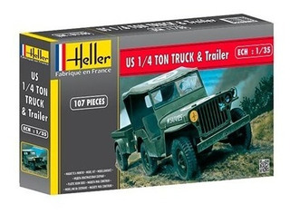 Jeep Us 1/4 Ton Truck & Trailer Esc. 1/35 (hlr81105)