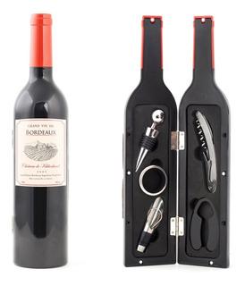 Botella Con Accesorios Para Vino 3 Pzas