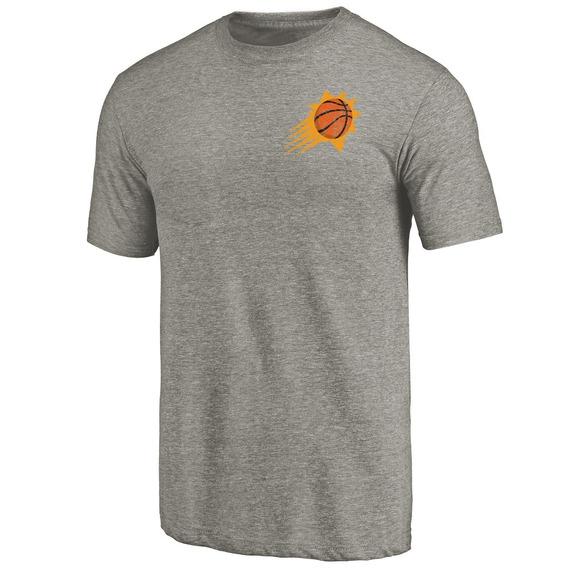 Remera Basket Nba Phoenix Suns Logo En El Corazon Gris