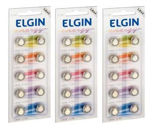 Pilhas Lr44 Kit 82194 Alcalina Botão 1.5 V Elgin