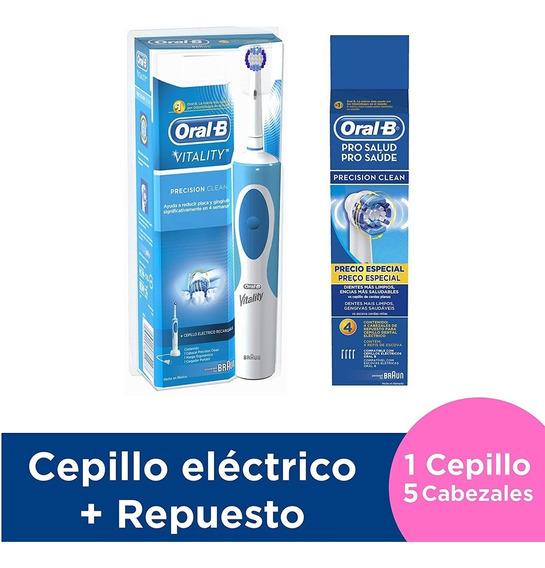 Cepillo Eléctrico Vitality + 4 Cabezales Presicion Clean