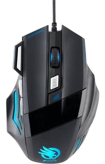 Mouse Gamer Optico Fortrek 2400dpi Black Hawk Om703 Preto