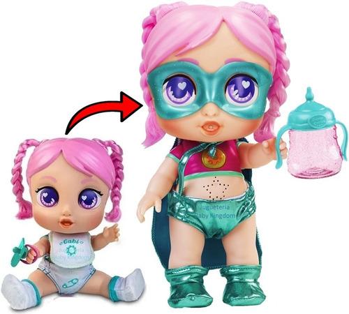 Super Cuties Muñeca De Moda Super Heroina Se Convierte Bebe