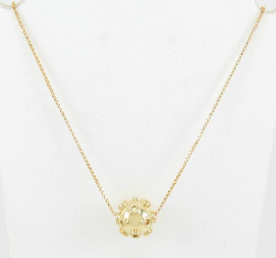 Corrente Com Pingente Design Mina Em Ouro Amarelo 18k 750.