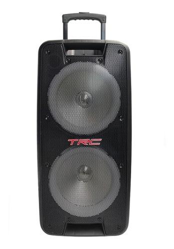 Alto-falante TRC Sound 5578 portátil com bluetooth preto 110V/240V