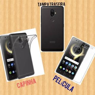 Tampa Capa Traseira Bateria Lenovo K8 Plus 5.2 + Película +