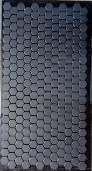 Piso Hexagonal Negro Mate