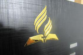 8 Adesivos Dourado 3d 9cm Adventista Frete Grátis