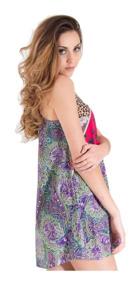 Vestido De Fibrana Bretel Ancho (variedad De Estampados)