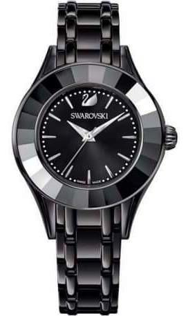 Relógio Swarovski Alegria Preto. Novo, Com Certificado.