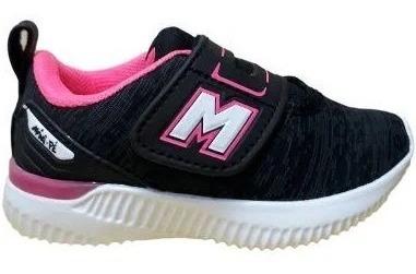 Tenis Mini-pe 07/2019 Mp1839 Preto/pink