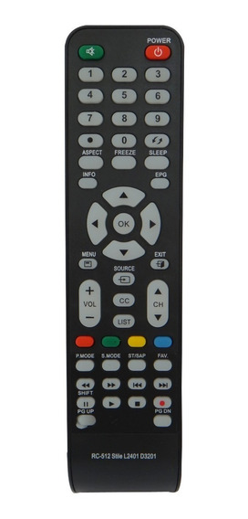 Controle Tv Cce Rc-512 Lcd Led Stile D4201 D32 D37 D42