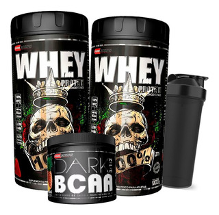Kit 2x Whey 100% Pure Concentrado + Bcaa + Shaker - Procorps