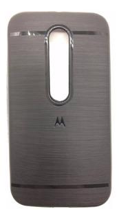 Capa Case Anti Impacto Masculino Moto G G3 + Pelicula Vidro