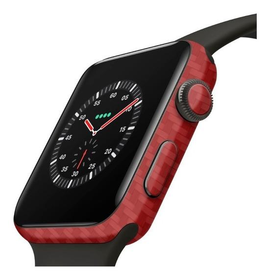 Skin Adesivo Proteção Vermelho Apple Watch 44m P/ Series 4