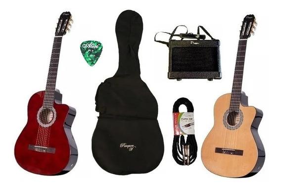 Guitarra Criolla Electroacustica Parquer Corte Amplificador