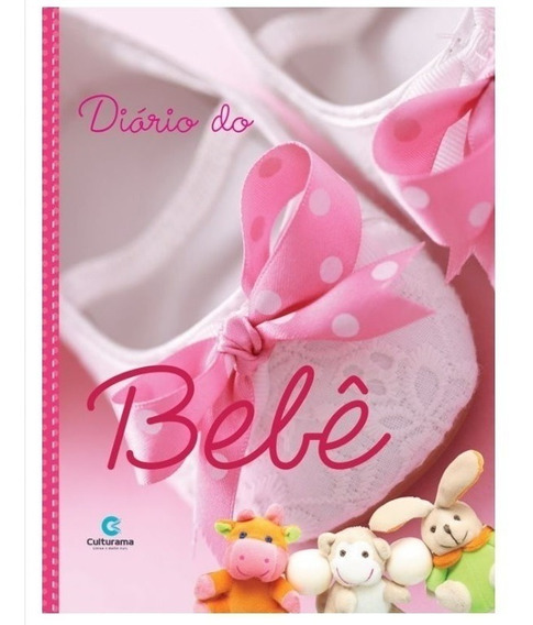 Diário Do Bebê Culturama Álbum Fotos Anotações Rosa Ou Azul