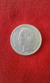 Dos Bolivares Moneda De Plata De Venezuela 1960