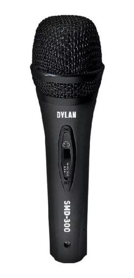 Microfone Dinâmico Unidirecional Dylan Smd-300 Cabo 3m Promo