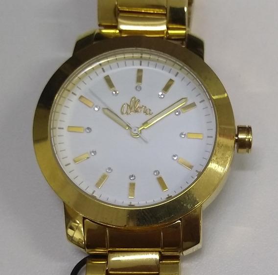 Relógio Allora Feminino Dourado Al2035lh/k4b Mais Brinde