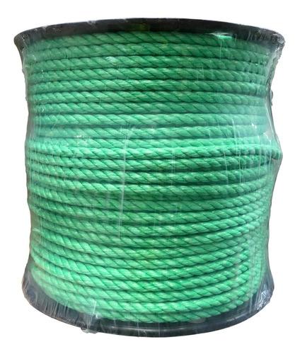 Cuerda De Polipropileno En Carrete De 8 Mm Color Verde