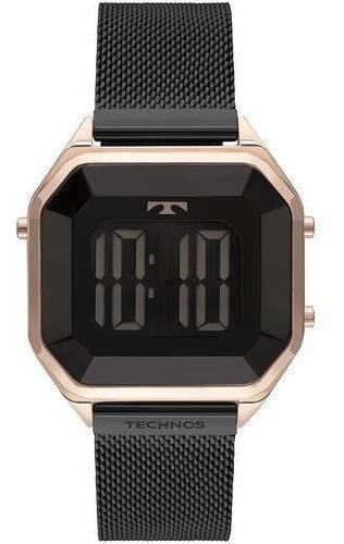 Relógio Technos Crystal Feminino Preto Bj3851am 4p