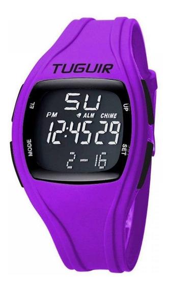 Relógio Feminino Tuguir Digital Tg1602 - Roxo E Preto