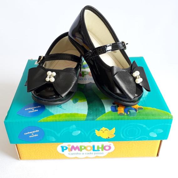 Sapato Infantil Menina Pimpolho Preto
