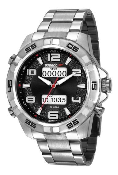Relógio Speedo Anadigi Masculino Big Case 50mm 15002g0evns2