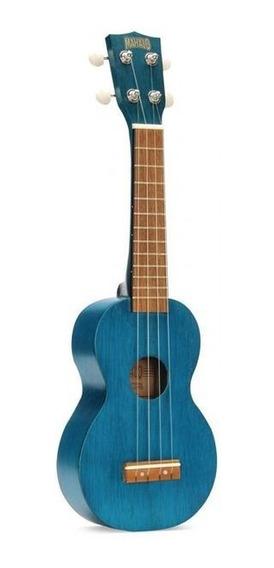 Ukulele Soprano Mk-1 Mahalo Azul Transparente C/ Funda