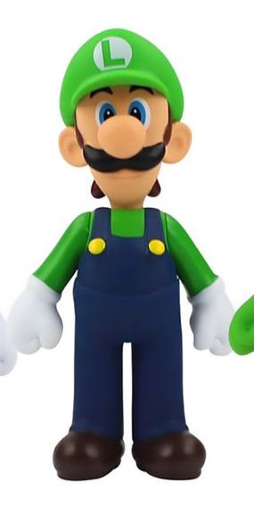 Boneco Luigi Action Figure Super Mario Bros Nintendo Origina