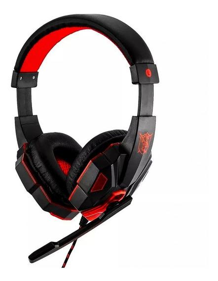 Fone De Ouvido Gamer Com Led E Microfone - Hf-g390p4 Ps4/pc