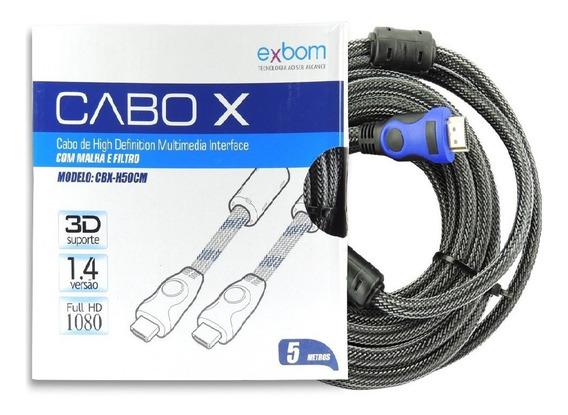 Cabo Hdmi 1080p Full Hd Tv Lcd Plasma Ps3 Projetor 5 Metros