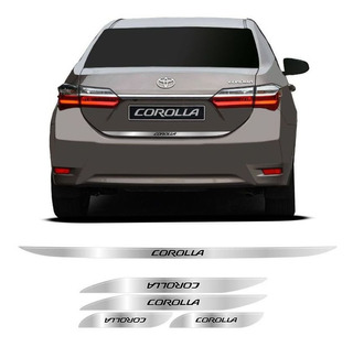 Kit Soleira E Friso Toyota Corolla 2014 15 16 17 18 Cromado