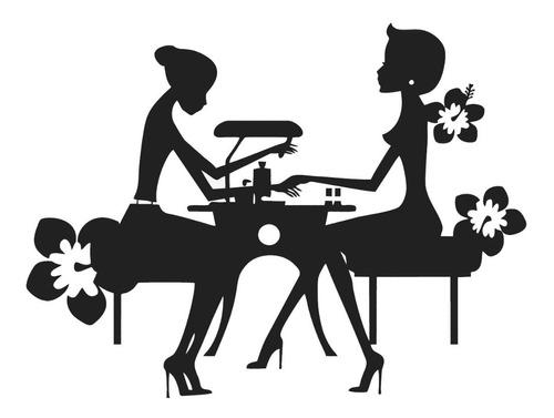 Adesivo De Parede Decorativo Manicure Salão Mulher Beleza