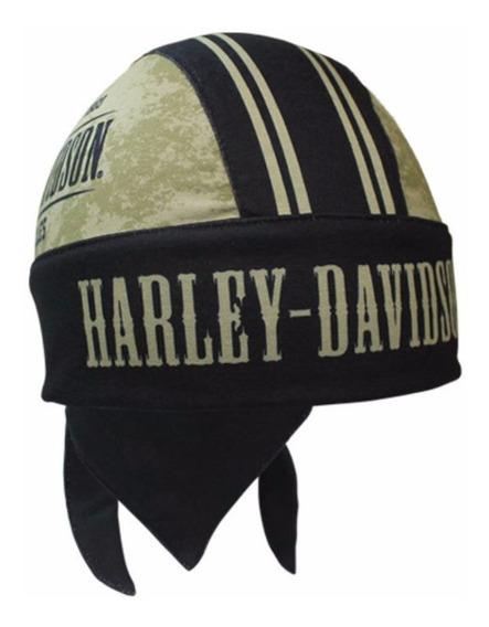 Harley Davidson Bandana Skull Cap Touca Gorro Grunge