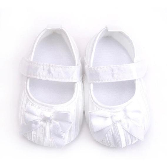 Sapatinho Rosa Com Laço - Sapato Para Bebê - Menina