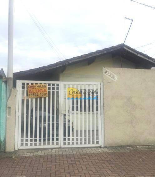 Casa Com 1 Dormitório Para Alugar, 1 M² Por R$ 1.100,00 - Tupi - Praia Grande/sp - Ca0783