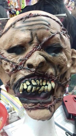 Mascara Zombie Puas Halloween 100% Latex Cotillonchirimbolos