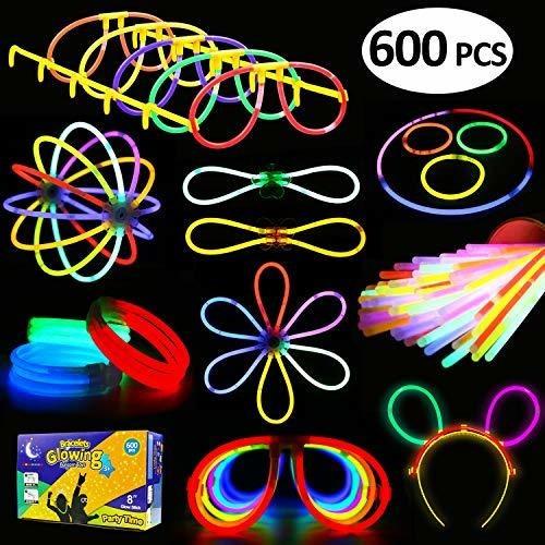 Lote De 250 Tubos Luminosos De 7 Colores Con Conectores Para