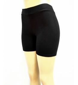 Kit Com 3 Shorts Curtos Pretos De Cotton Cintura Alta