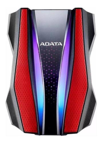Imagen 1 de 3 de Disco duro externo Adata AHD770G-1TU32G1 1TB rojo