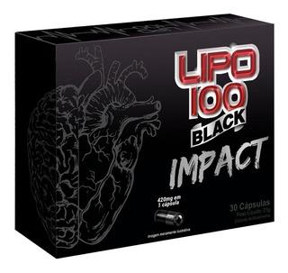 Lipo 100 Black Impact 30caps Intlab Cafeína Termogênico