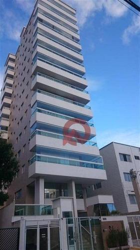 Apartamento Com 1 Dormitório À Venda, 54 M² Por R$ 288.000,00 - Canto Do Forte - Praia Grande/sp - Ap3302