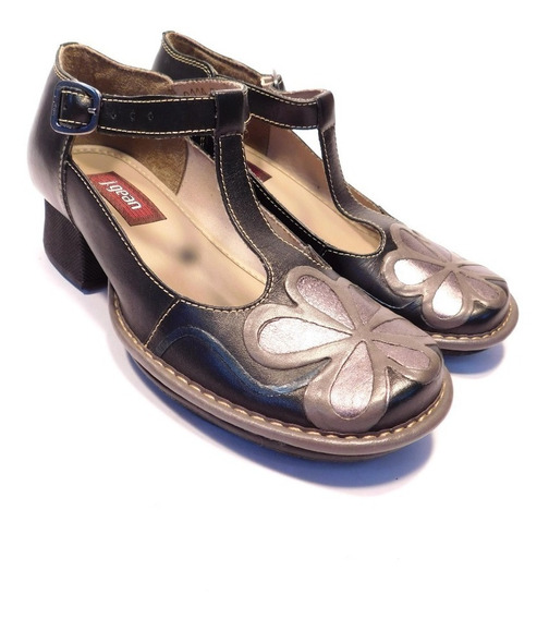 Sapato Feminino Retrô Couro J.gean Ref Ah0114