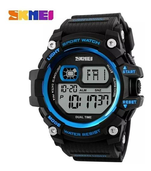 Relógio Azul Escuro Digital De Pulso Homem Grande S Shock